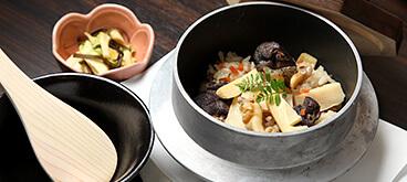 バイ貝とたけのこ炊き込みご飯